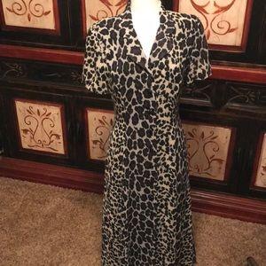 Vintage Leslie Faye button down maxi dress
